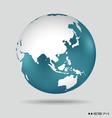 Modern globe vector image vector image