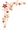 Leaves autumn border vector image vector image