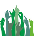 Green hands icons vector image