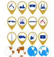 Icons gas industry vector image vector image