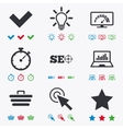 Internet seo icons Bandwidth speed sign vector image