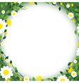 green floral edges vector image vector image