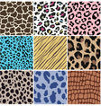 seamless animal skin fabric pattern vector image vector image