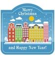 christmas card day house vector image