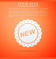 label new sign icon isolated on orange background vector image