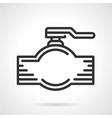 Pipe valve black line icon vector image