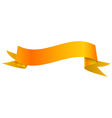 Realistic shiny orange ribbon isolated on white vector image