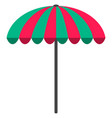 sun umbrella flat icon parasol beach umbrella vector image