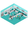 isometric restaurant cooking concept vector image