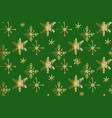 christmas doodle snowflake pattern vector image