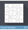 Jigsaw Puzzle Template 25 Pieces vector image vector image