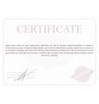 Classic certificate vector image