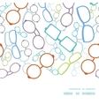 colorful glasses horizontal frame seamless vector image