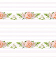 floral summer seamless pattern design bouquets of vector image