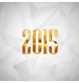 happy new year 2014 holiday background with golden vector image