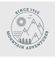 Mountain line landscape poster vector image