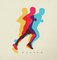 Runner sport man silhouette concept design vector image