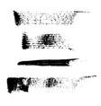 set of 4 artistic mascara black strokes vector image