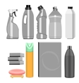 set of household chemistry vector image