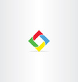 square in square business logo icon vector image