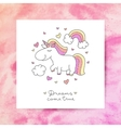 unicorn and rainbow vector image