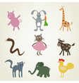 Cartoon film an animal2 vector image vector image