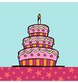 Birthday cake on the table vector image vector image