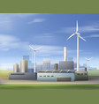 renewable energy sources vector image