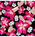 Floral seamless pattern hand-drawing vector image vector image