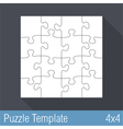 Jigsaw Puzzle Template vector image vector image
