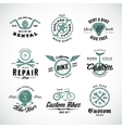 Retro Bicycle Labels or Logo Templates Set vector image