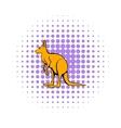 Kangaroo icon in comics style vector image