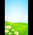 Green Nature Landscape vector image vector image