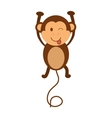 Cartoon monkey icon Cute animal design vector image