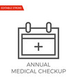 annual medical checkup icon vector image