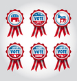 badges US presidential election 2012 vector image