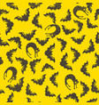 black bats and cats pattern vector image