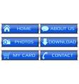 Blue web icon set vector image