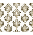 Classic style ornament damask pattern vector image