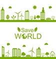 Green futuristic city living concept Green vector image