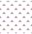 Lotus flower pattern cartoon style vector image