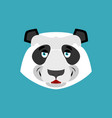 panda happy emoji chinese bear merry emotion vector image