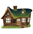 Stone house vector image