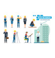 workers architect repairman director vector image