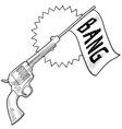 doodle gun bang comedy vector image