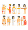 ancient egyptian people set cartoon design vector image