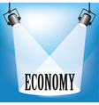 Spotlight the Economy vector image vector image