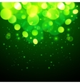 Green magic bokeh effect abstract background vector image vector image
