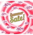Sale swirl Summer background vector image