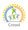 Logo Crowd Community Celebration Children Design vector image